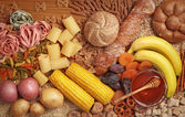 Foods high in carbohydrate — Stock Photo