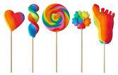 Colorful lollipops — Stock Photo