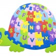 Turtle alphabet - Stock Photo