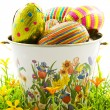 Stock Photo: Easter egg bucket