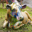 Stock Photo: Painted cow