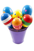 Bucket with samba balls — Stock Photo