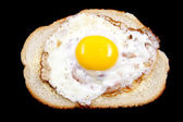Egg on bread — Foto Stock