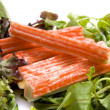 Surimi on salad — Stock Photo