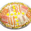 Party fish salad — Stock Photo