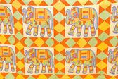 Elefanti colorati — Foto Stock