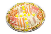 Party fish salad — Stock Photo