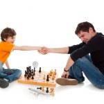 Beaten in chess — Stock Photo