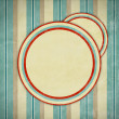 Retro background with circles — Stock Photo