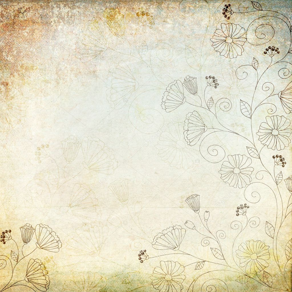 Vintage background with floral pattern — Stock Photo #9840224