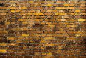 Bakstenen muur. vintage textuur in gele bruine tinten. — Stockfoto