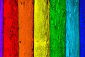 Multicolored old wooden planks background — Stock Photo