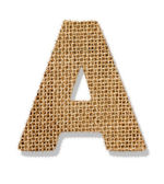"The letter ""A"" is made of coarse cloth. — Stock Photo"
