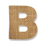 "The letter ""B"" is made of coarse cloth. — Stock Photo"