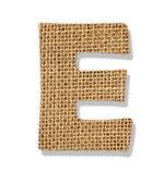 """La lettera """"e"""" fatta di panno ruvido. — Foto Stock"""