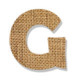 """The letter """"G"""" is made of coarse cloth. — Stock Photo"""