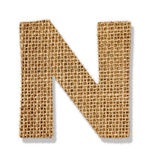 "The letter ""N"" is made of coarse cloth. — Stock Photo"