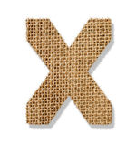 "The letter ""X"" is made of coarse cloth. — Stock Photo"