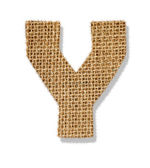 "The letter ""Y"" is made of coarse cloth. — Stock Photo"