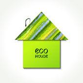 Paper eco house — Stockvektor