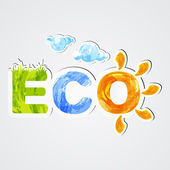 Eco. Environmental icon — Stock Vector