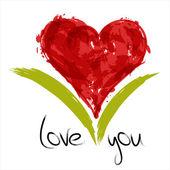 Målade hjärta — Stockvektor