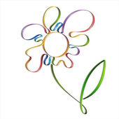 Flores de colores abstractos — Vector de stock