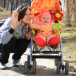 Mother with baby in the park — Stock Photo #10193452