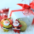 Colorful gift box with christmas decorations — Lizenzfreies Foto