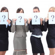 Group of unidentifiable business women — Stock Photo