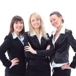 Portrait of three beautiful businesswomen — Stock Photo