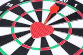 Heart dart, target of love — Stock Photo