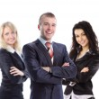 Young  business manwith his collegues - elite business team — Stock Photo