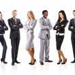 Group of business isolated on white — Stock Photo