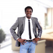 Successful African American business man in office — Stock Photo