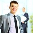 Handsome young man in a business suit — Stock Photo