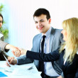 Image of business handshake after making an agreement — Stock Photo
