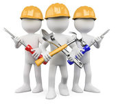 3D Workers - Team of work — Stock Photo
