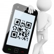 3D Man - Mobile QR codes — Stock Photo #10675417