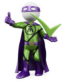 3D Superhero - Tick man — Stock Photo
