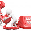 3D small talking on the phone — Stock Photo