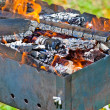 Firewood in the brazier — Stock Photo #10583771