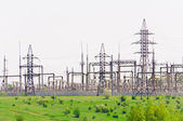 Distribution of electricity sub-station — Stock Photo