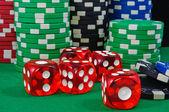 Casino chips. Photo gambling — Stock Photo