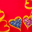 Stock Photo: Paper Heart, symbol of holiday Valentine's Day