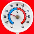 Outdoor thermometer — Stock fotografie