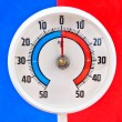 Outdoor thermometer — Stock Photo #9230595