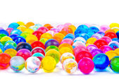 The soil of the colored balls — Stock Photo