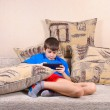 Stock Photo: Boy with Tablet PC