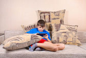Boy with a Tablet PC — Stock Photo